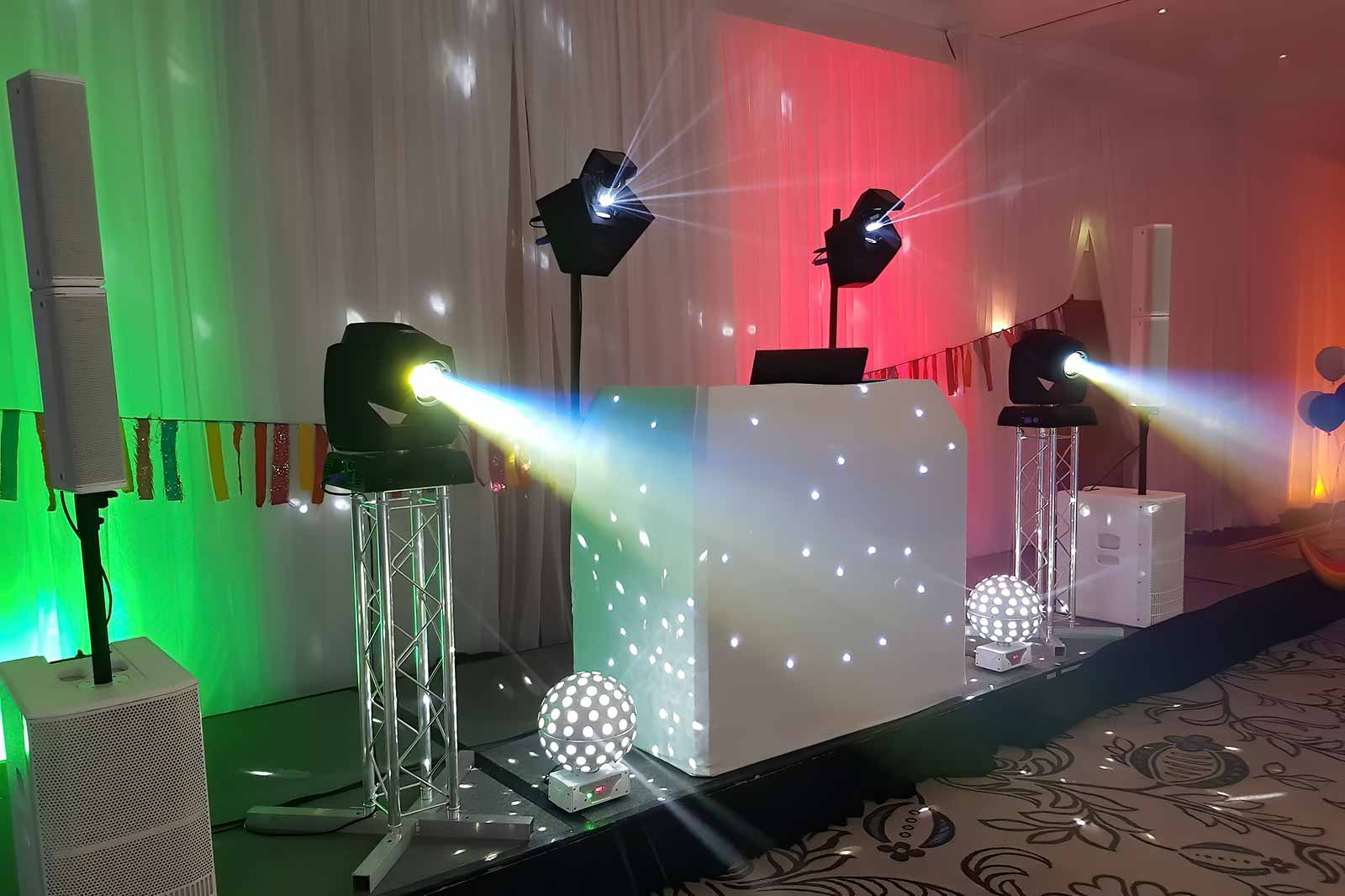 The Boogie Knight White Wedding DJ Package